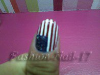 Nail-Art   -->   Drapeau des États-Unis