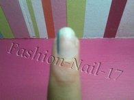 Nail-Art ---> Rayures violettes et bleues