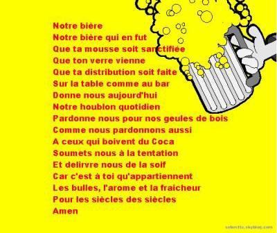 Bevorzugt La prière de la bière ^^ - mon blog a moi AL95