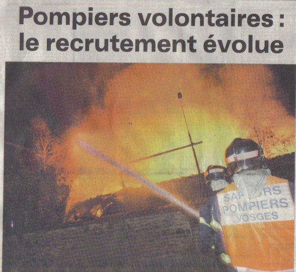 RECRUTEMENT DES POMPIERS VOLONTAIRES