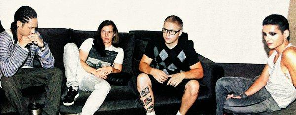« Tokio Hotel c'est bien plus qu'un groupe , c'est un morceau de mon histoire. »