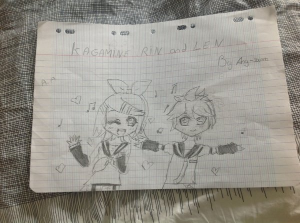 Dessin Rin et Len Kagamine