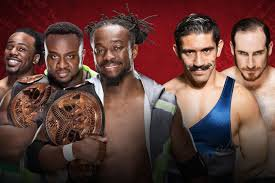 The New Day (c) vs The Vaudevillains