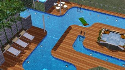 Paradise jardin pelouse piscine les sims 3 for Sims 4 piscine a debordement