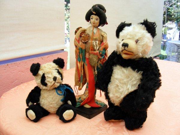 Bonne journée sous la pluie,mes pandas en compagnie d'une belle japonaise+++++