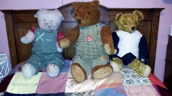 Mon trio d'ours vous souhaite une belle journée à vous tous+++++