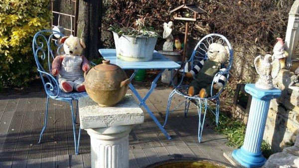Photo de mes ours au jardin au soleil un aven gout du printemps+++