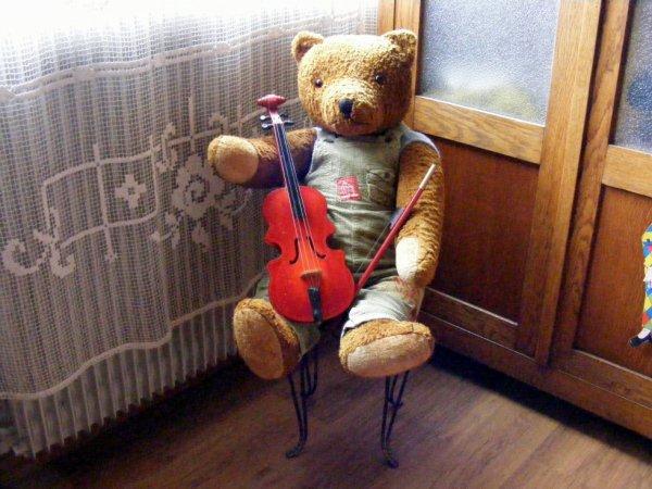 Guillaume vous montre ma trouvaille de hier+++++le violon++