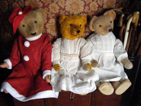 Mon trio d'ours sont paré pour les fêtes+++++