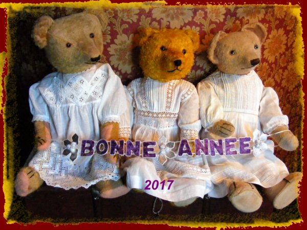 Mes ours vous souhaites une Bonne Année 2017 à vous tous++++