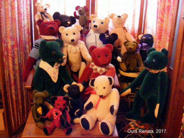 Mes ours de ma création vous souhaites une belle journée à vous tous++++