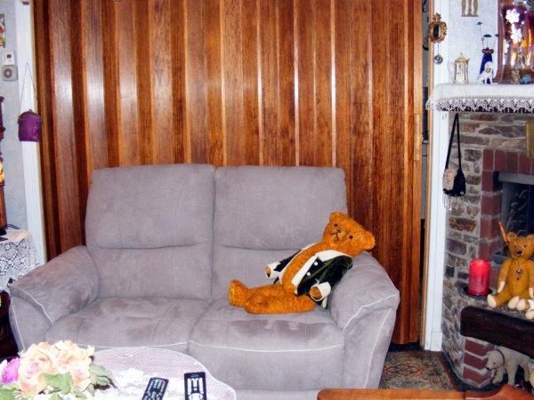 Mon ours se repose très bonne soirée à vous tous+++++