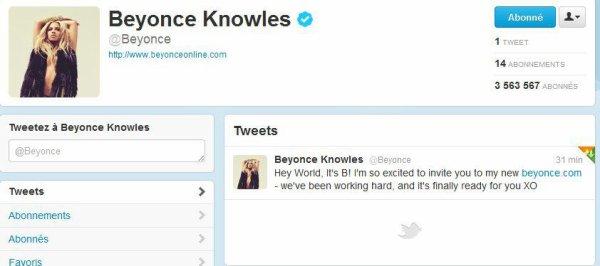 elle a aussi poster son premier tweet