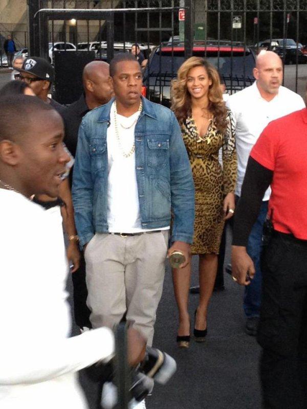 Beyoncé et jay-z visite la marina