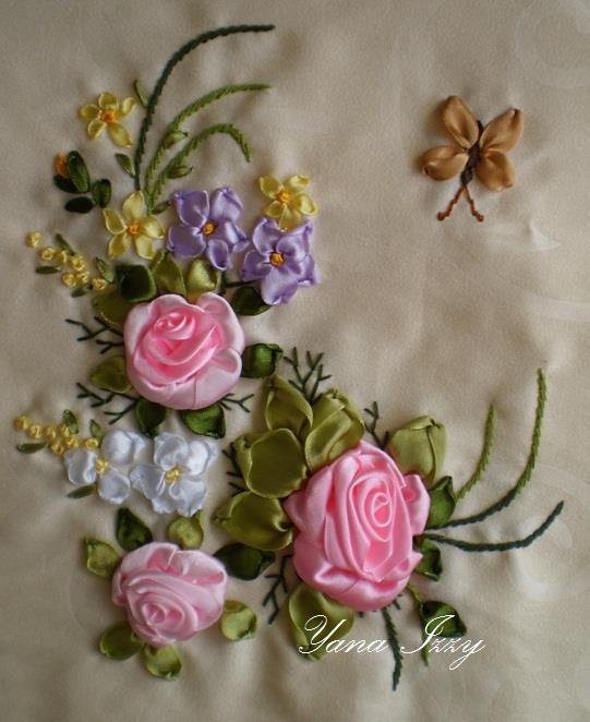 broderie floral