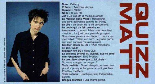 Muse dans Rock Mag. (année : 99/2000?)