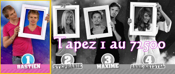 Tapez 1