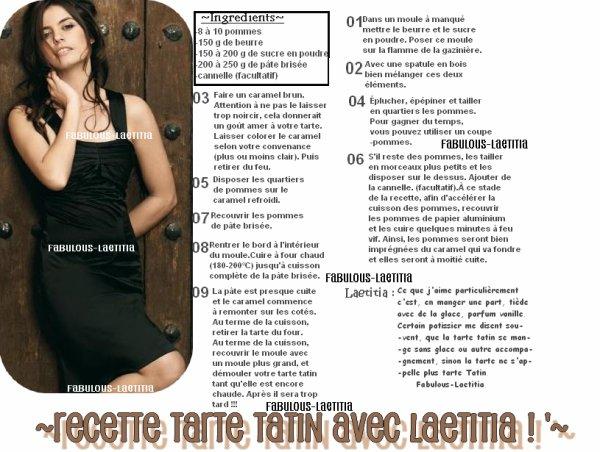 La recette préféré de Laetitia - Fabulous-Laetitia