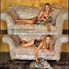 Julie Benz avec un bébé tigre