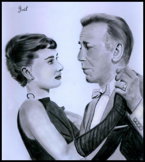 Audrey Hepburn - Humphrey Bogart