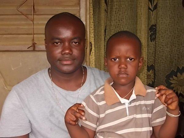 moi et mon neveu papa paulin