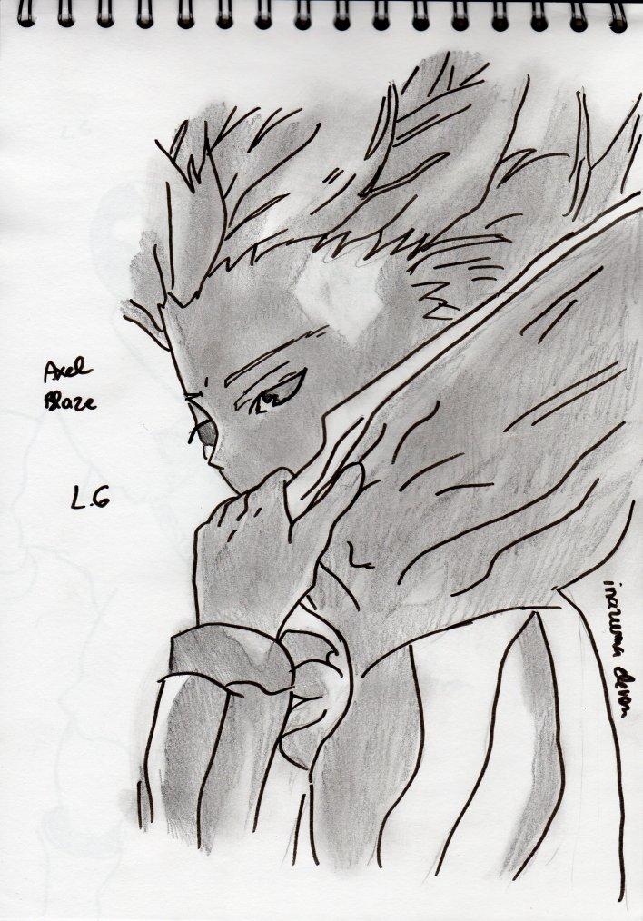 dessin axel blaze