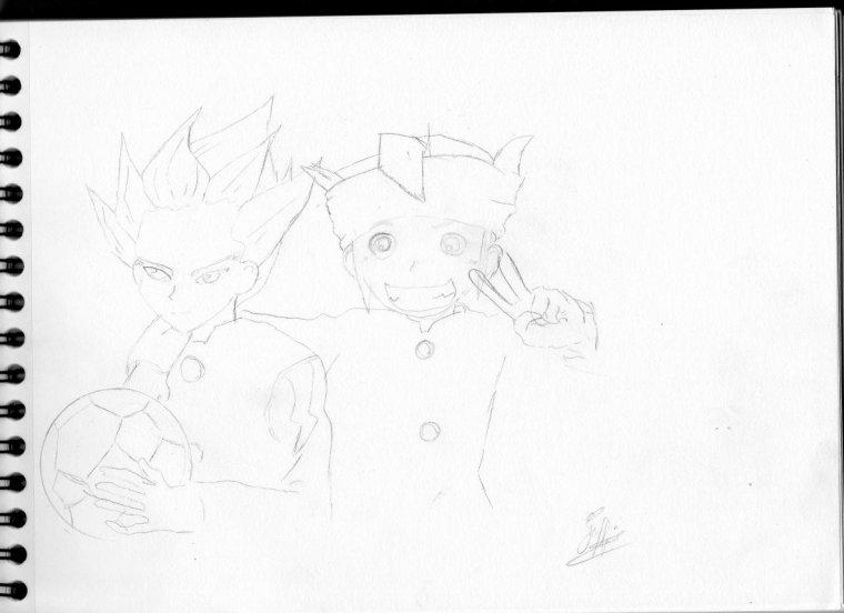 début de dessin crayon
