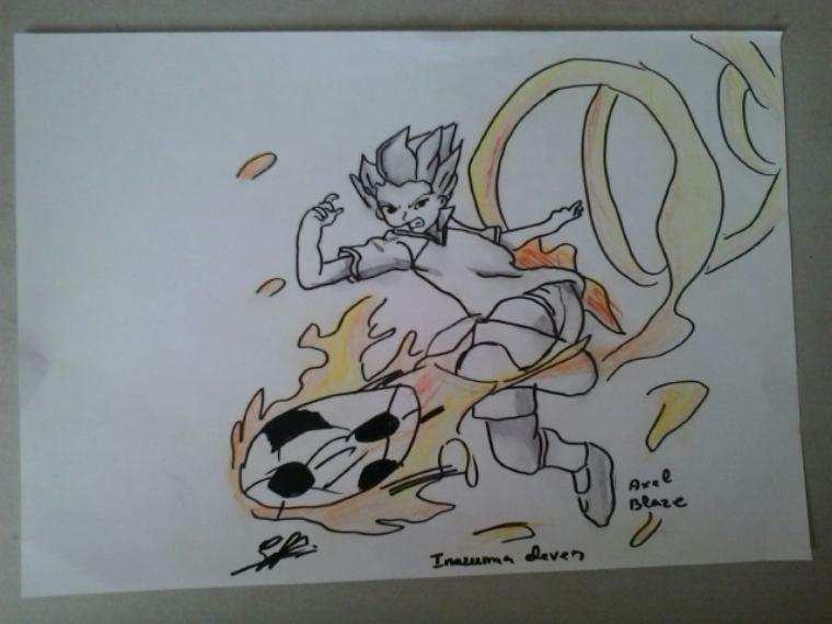 Axel blaze dessin :)