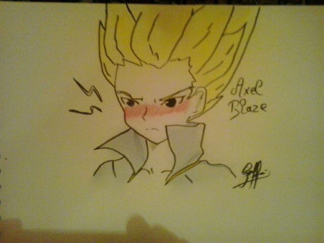 Dessin : Axel Blaze rougi *.*