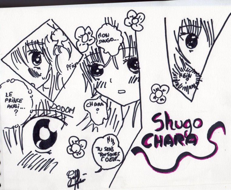 new dessin Shugo chara Amu