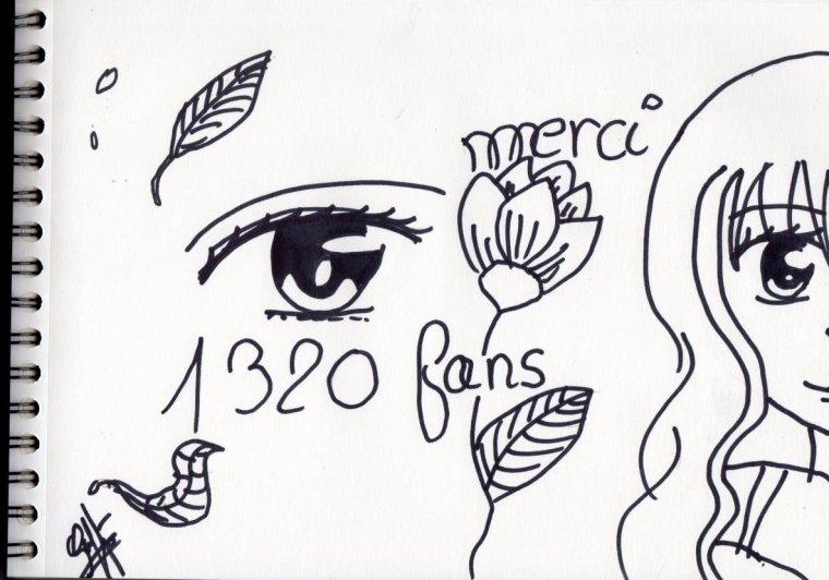 remerciements aux 1320 fans :)