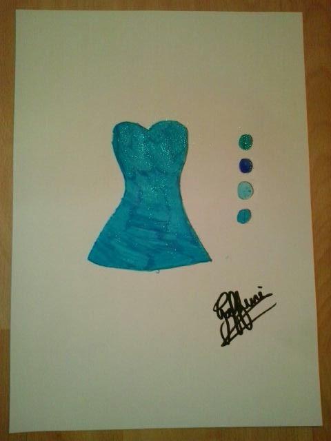 Dessin robe bleu