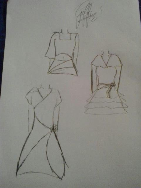 Dessin creation robes