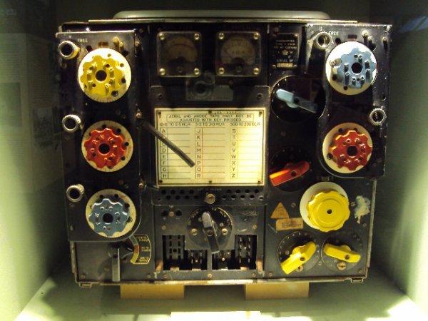 Poste radio d'un bombardier britannique