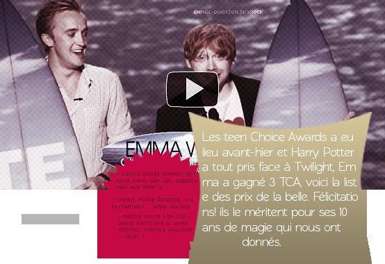 09 AUGUST  Teen Choice Awards 7 fois gagnant