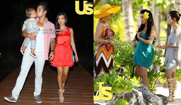 US Weekly nous dévoile quelques photos des vacances des Kardashian/Jenner à Bora Bora en Avril.