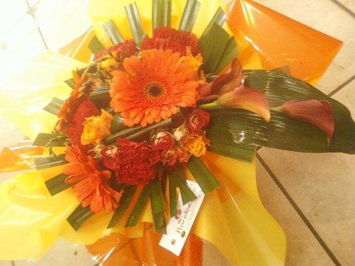 Ma serie de bouquet cascade avec des Calla
