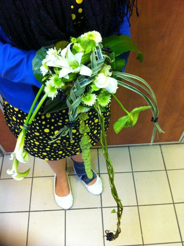 Bouquet de mariée linéaire
