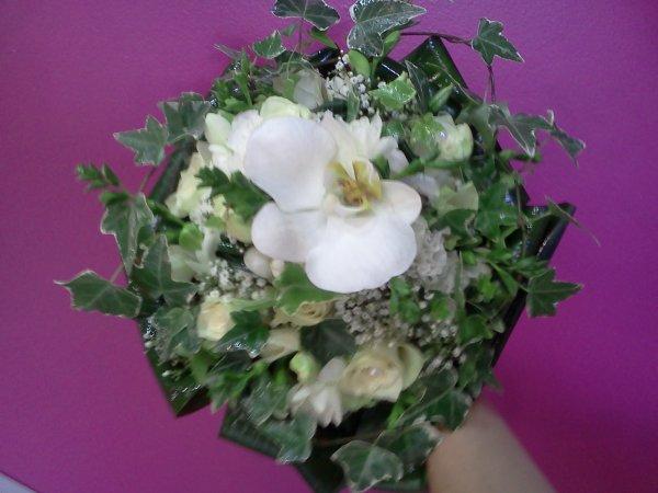 Bouquet de mariée avec du lierre