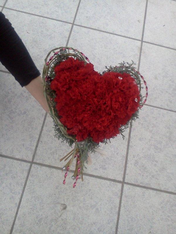 Bouquet en coeur