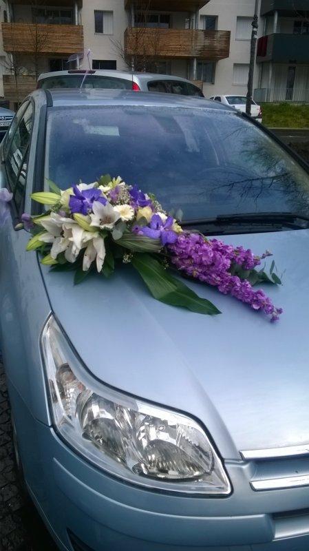 Mariage 22 mars 2014 : décoration pour la voiture