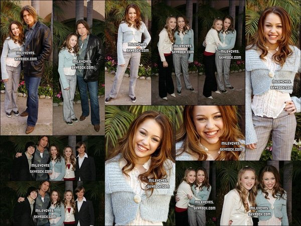- 10/01/2006 : Miley a fait une conférence de presse pour la série  « Hannah Montana » à Pasadena. Miley était accompagnée de son père Billy, Emily Osment, Mitchel Musso et Jason Earles qui se déroulait dans un Hôtel.   Miley détient le rôle principale de la nouvelle série de Disney Channel.   -