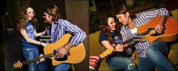 -  Découvrez un photoshoot de Miley et son père sur le set de « Hannah Monatana » -