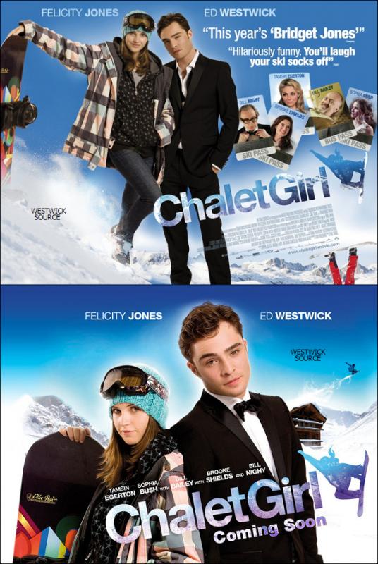 """CHALET GIRL  Voici deux nouveaux posters pour le film """"Chalet Girl"""" plus sa date de sortie dans trois pays."""