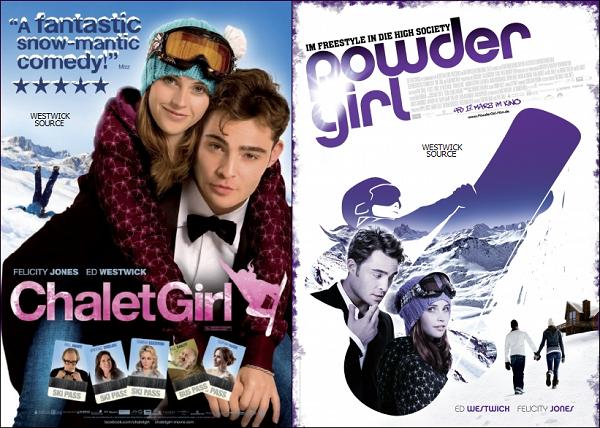 """CHALET GIRL Plusieurs stills pour """"Chalet Girl"""" sont apparus, ainsi que deux posters."""