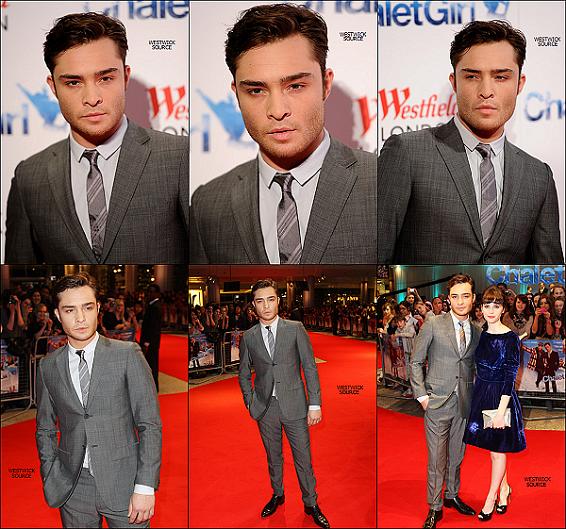 APPARITION Ed était présent à la premiére mondiale du film Chalet Girl, à Londres, le 8 février.