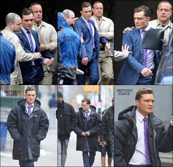 ON SET Le 24 février, Ed tournant une scène de GG à Brooklyn. On peut voir Chuck se faire escorter.  Le 28 février, Ed se rendant sur le set de GG à Manhattan. Ed a un bandage à la main gauche.