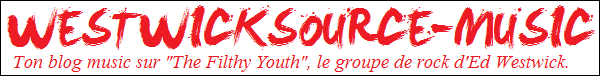 """LIEN Clique sur l'image pour aller sur mon blog music dédié au groupe de rock d'Ed """"The Filthy Youth""""."""