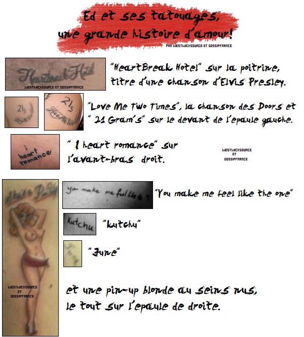 DIVERS Ed et ses tatouages, une grande histoire d'amour ! en collaboration avec GossipFrance