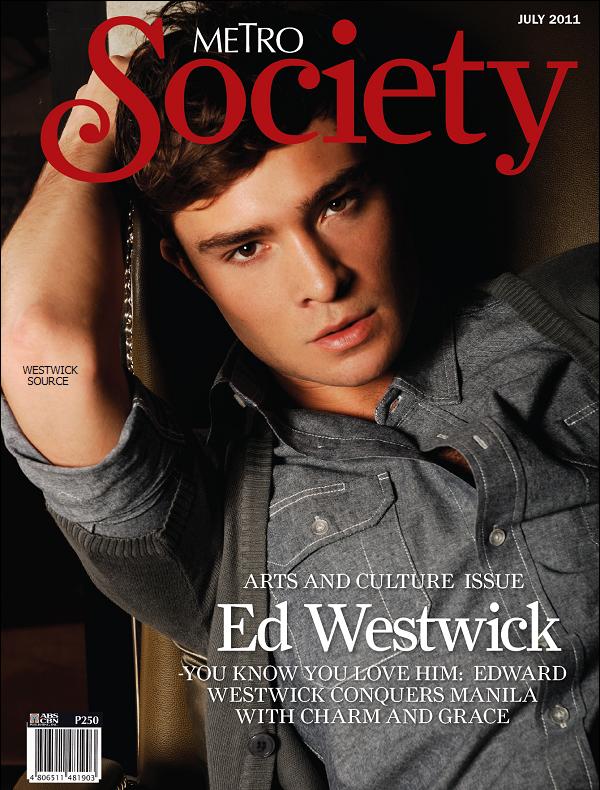 """COVER Ed fait la couverture du magazine de Juillet """"METRO Society"""". Les photos sont toutes tirés du shooting pour Penshoppe, on les connait donc presque toutes sauf deux ou trois nouvelles."""